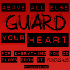Keep your heart safe, its so precious!